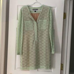 Victoria Beckham Green Mint Shift Dress Medium NEW